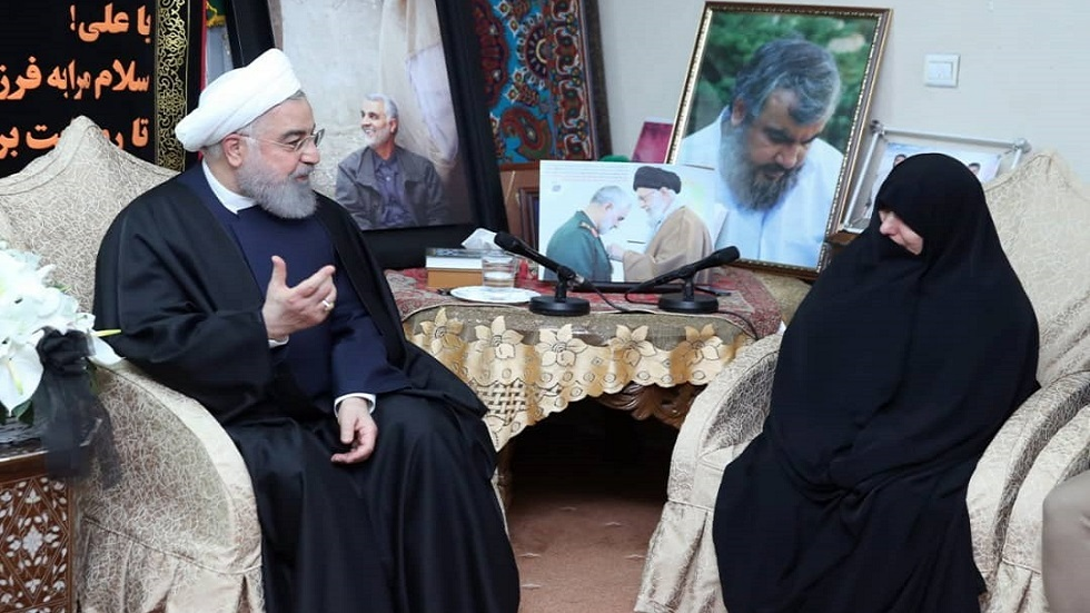 Watch how Iranian President Hassan Rouhani responded to Soleimani's daughter's request to take revenge for her father 150B2F36-8195-4E07-BAC3-3D91D08F98C2